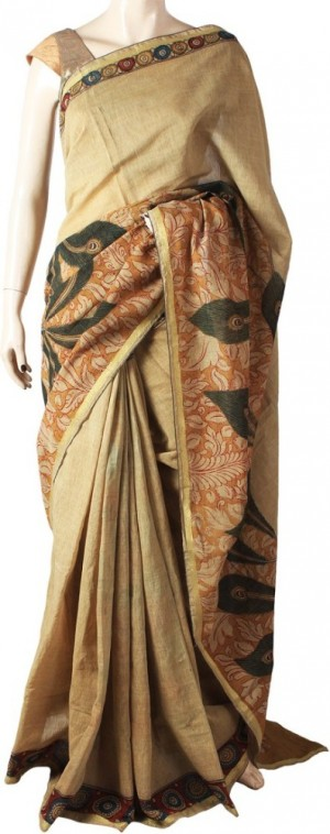 Buy Glitters Self Design Chanderi Chanderi Sari Online