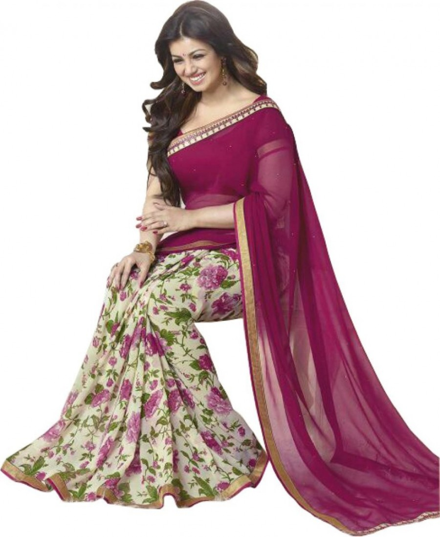 Buy Radhecreation Self Design Fashion Viscose Sari Online