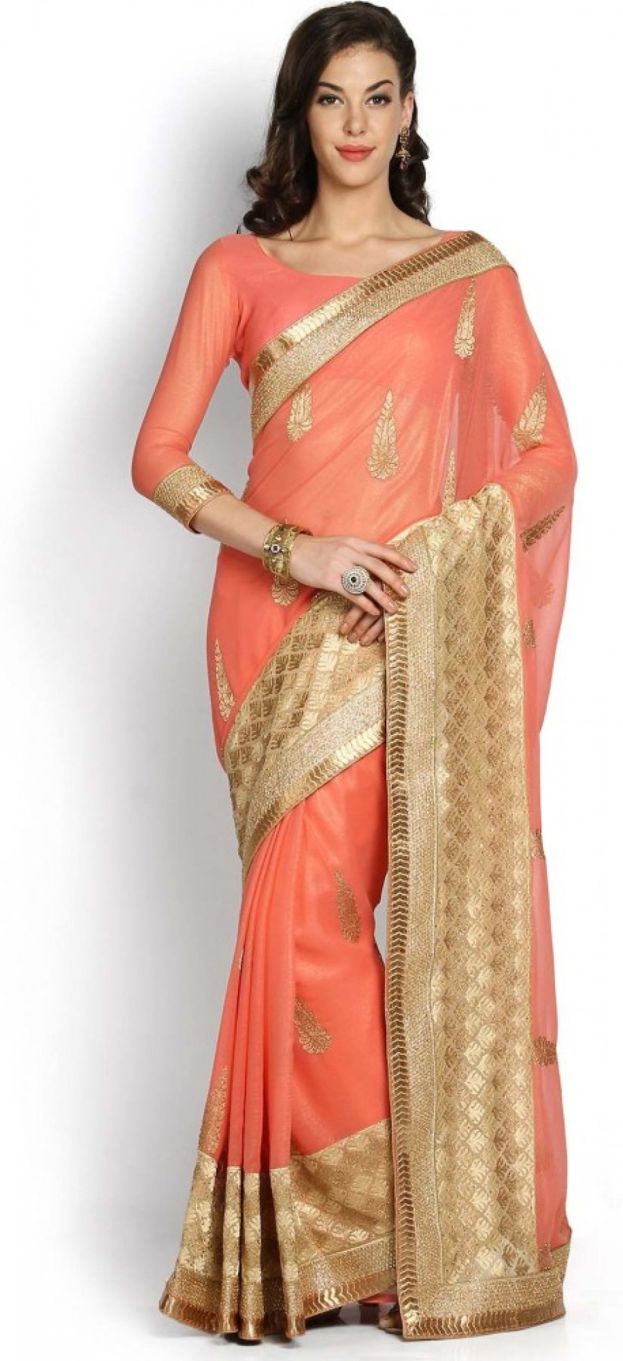Buy Soch Embriodered Fashion Viscose Sari Online