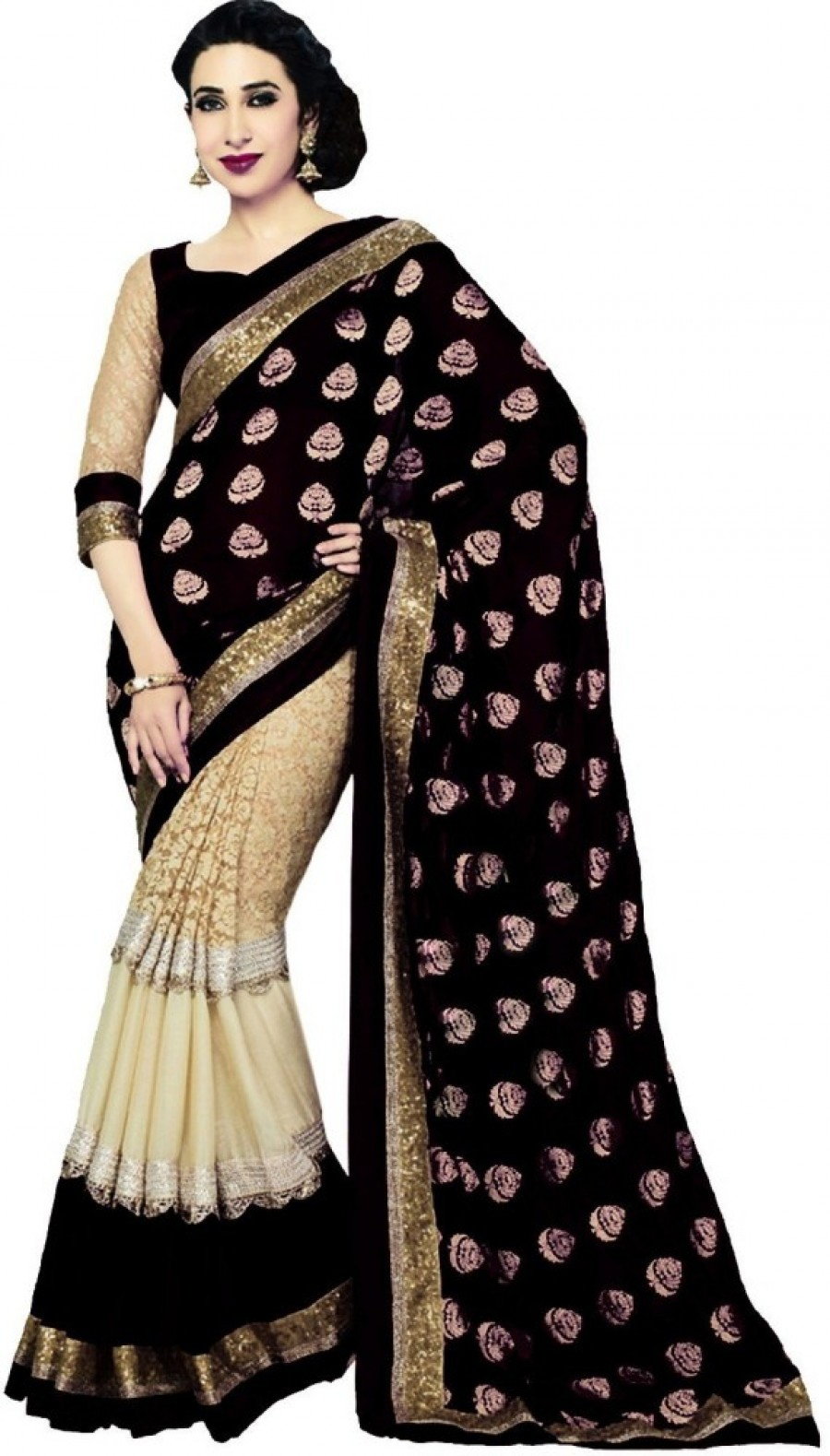 Buy Anuraag Self Design Fashion Viscose Sari Online