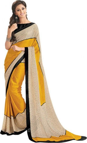 Buy Taanshi Printed Fashion Crepe Sari Online