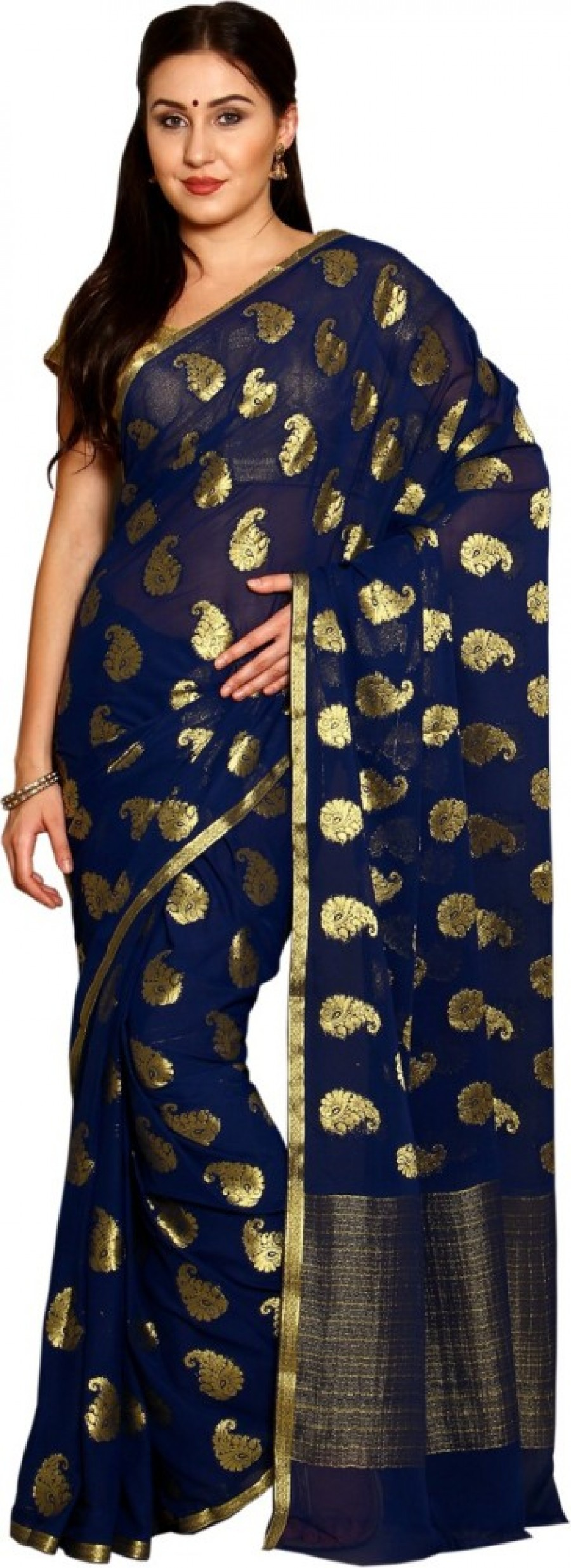 Buy Parchayee Woven Fashion Crepe Sari Online
