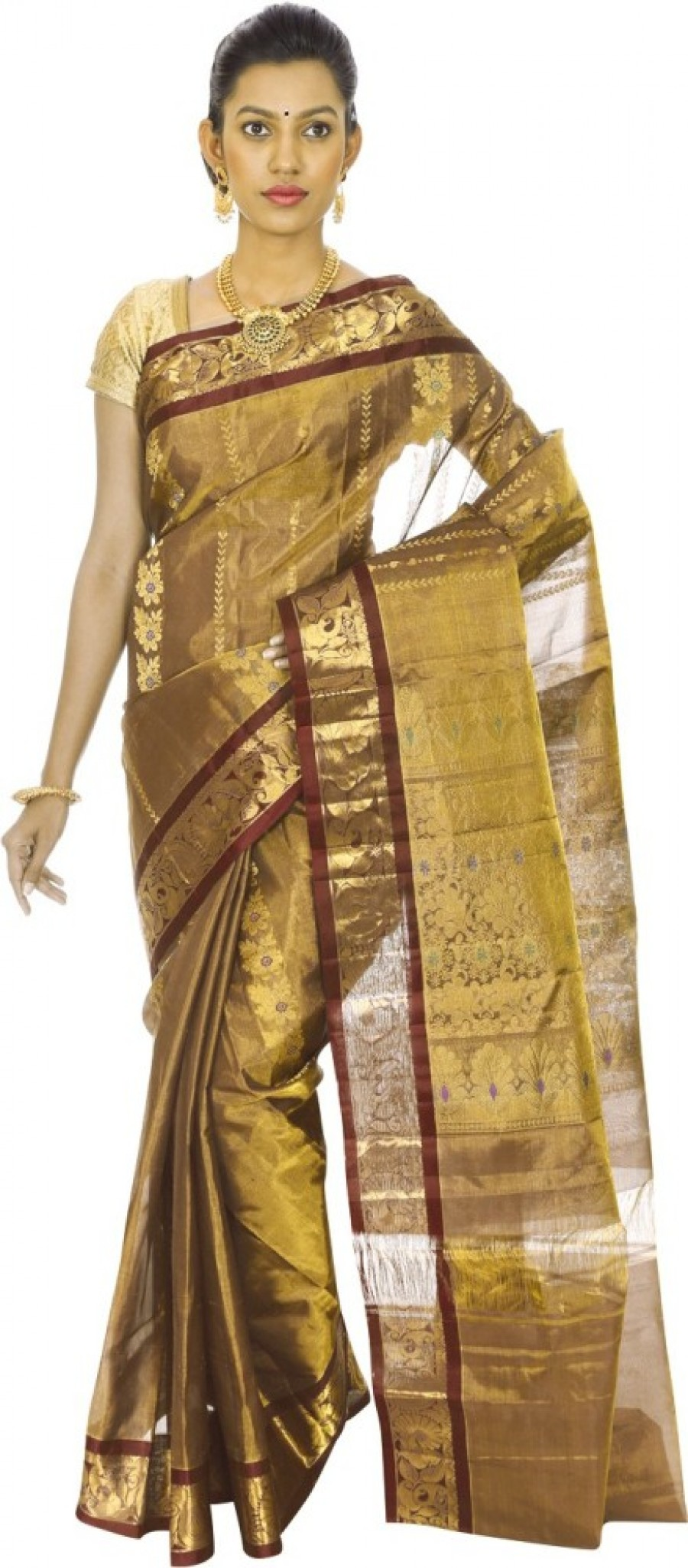 Buy Mahaveersilkcreations Woven Kanjivaram Handloom Pure Silk Sari Online