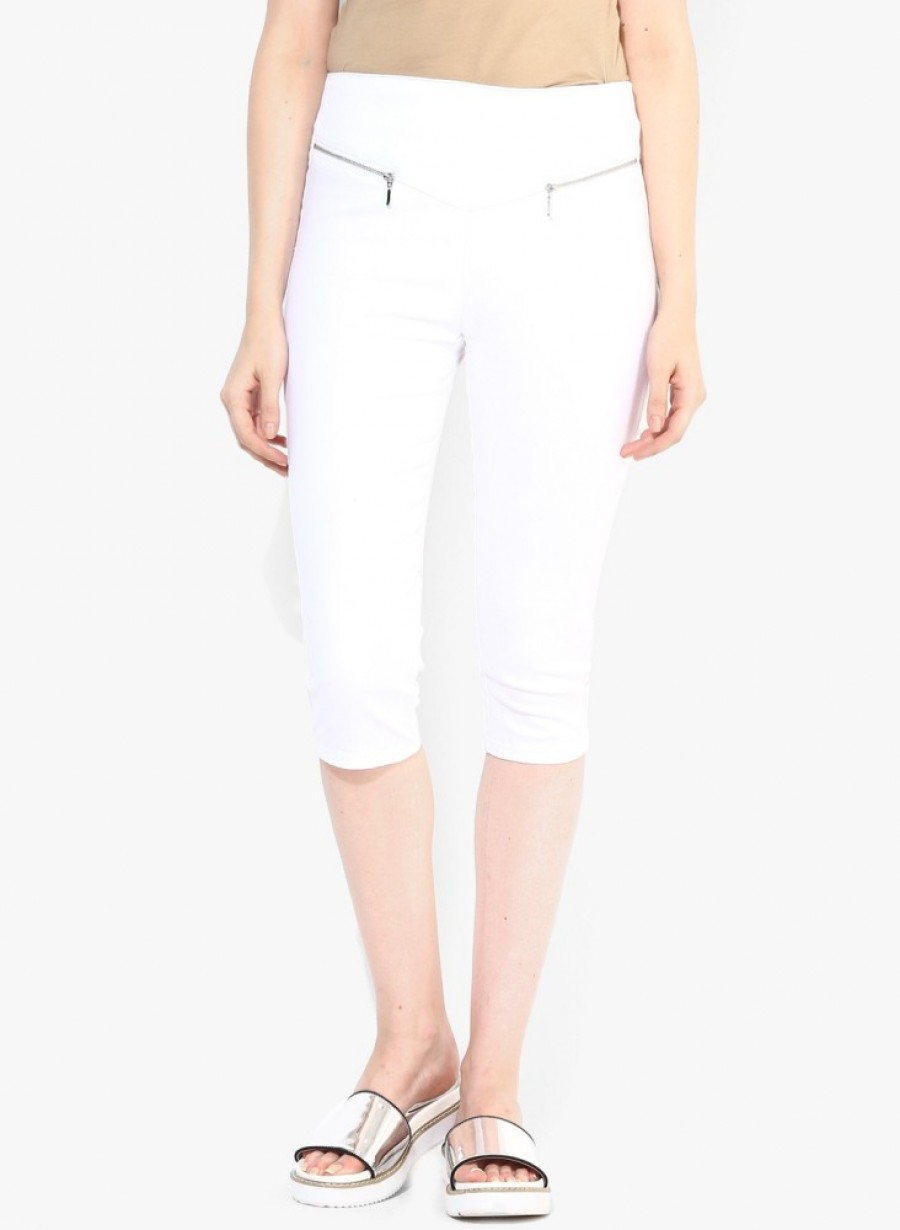 Buy Vero Moda Slim Fit Women White Trousers Online
