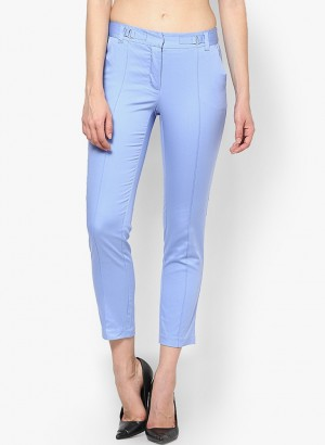 Buy Vero Moda Regular Fit Women Light Blue Trousers Online