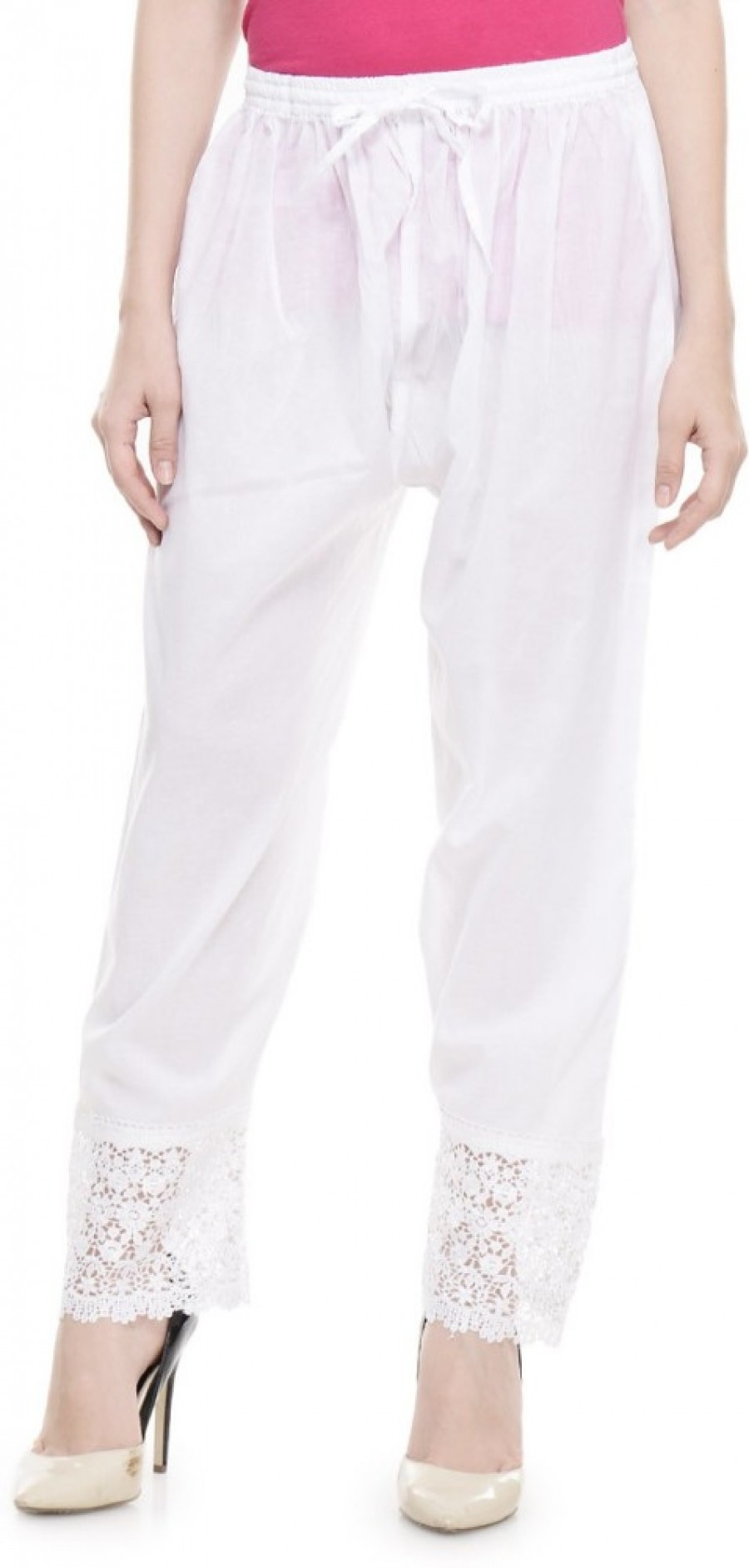 Buy Aarushi Fashion Regular Fit Women White Trousers Online
