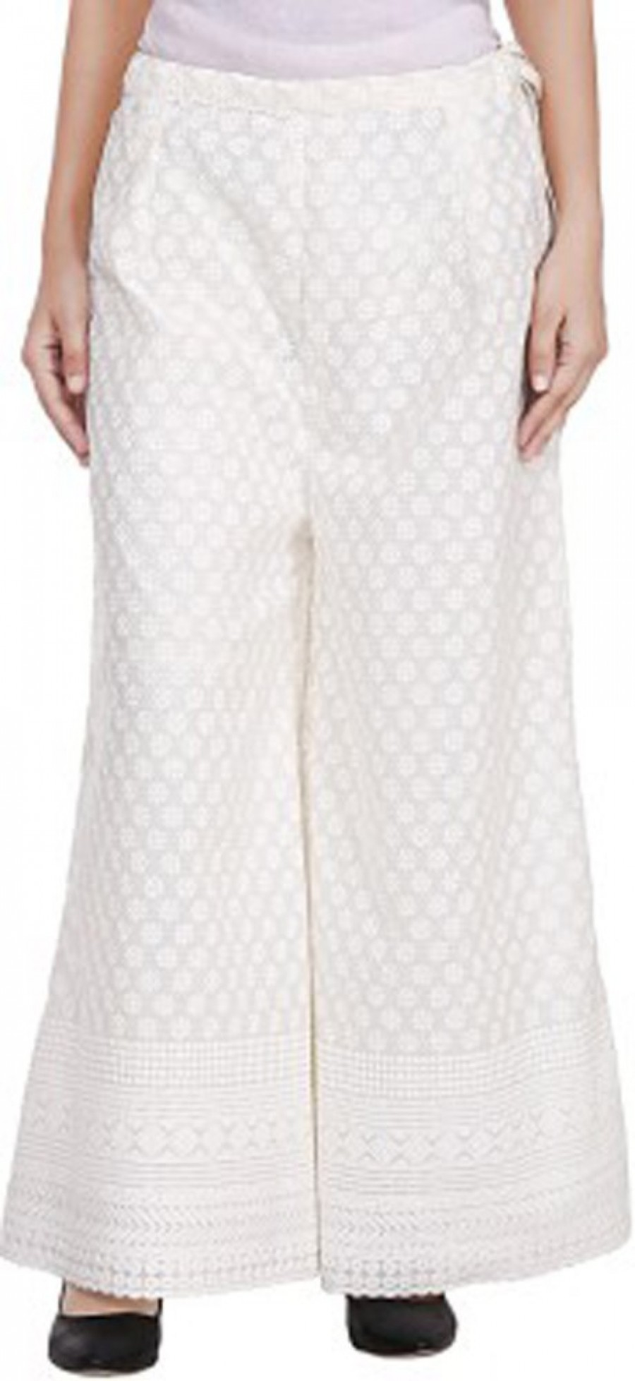 Buy Aarushi Fashion Regular Fit Women Cream Trousers Online