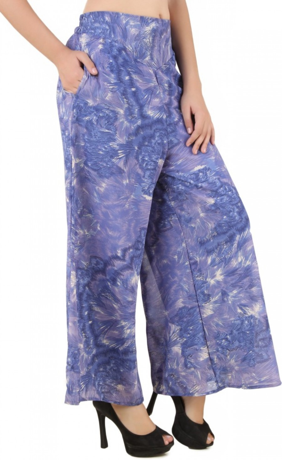 Buy RoseBella Regular Fit Women Purple  Multicolor Trousers Online