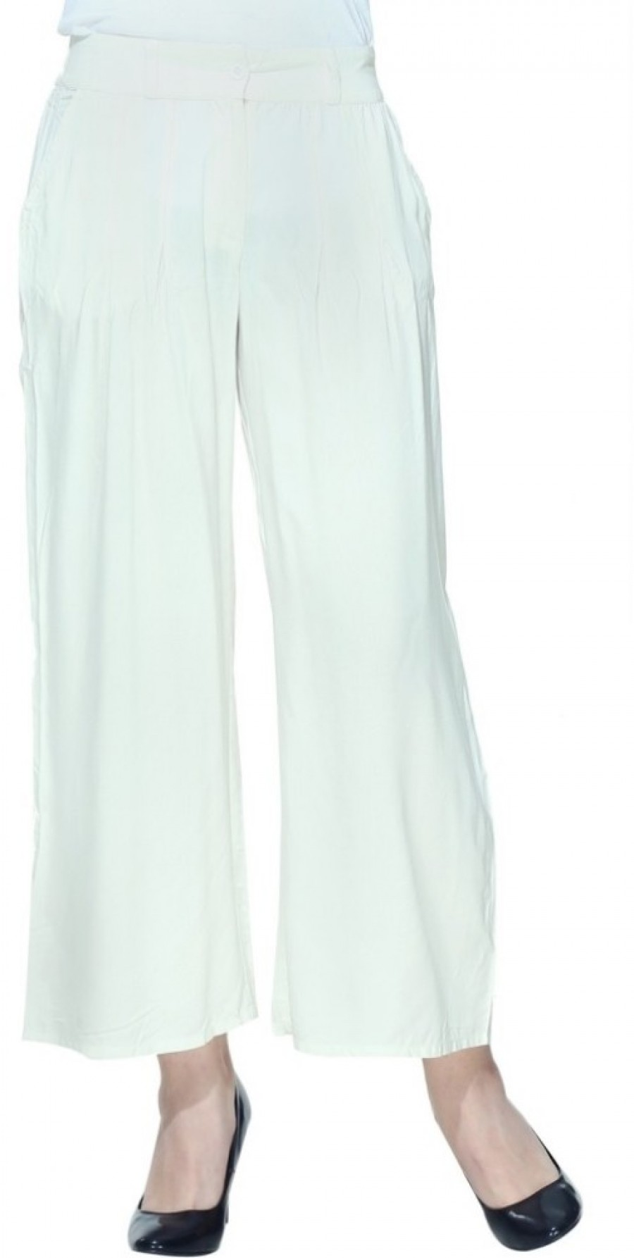 Buy W Regular Fit Women White Trousers Online