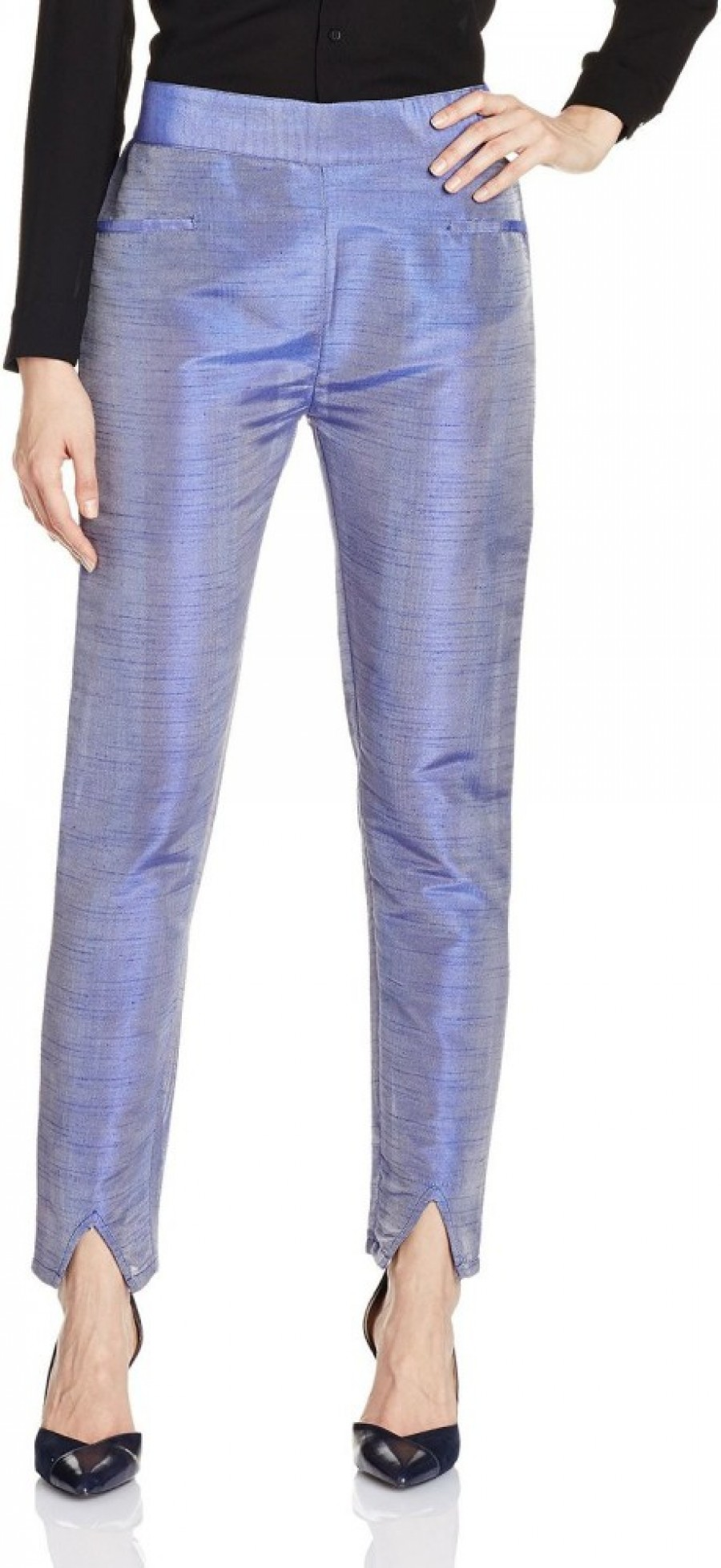 Buy Atayant Regular Fit Women Blue Trousers Online