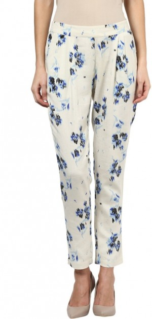 Buy 109F Regular Fit Women Multicolor Trousers Online