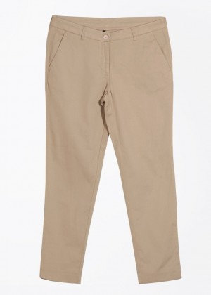 Buy United Colors of Benetton Slim Fit Women Beige Trousers Online
