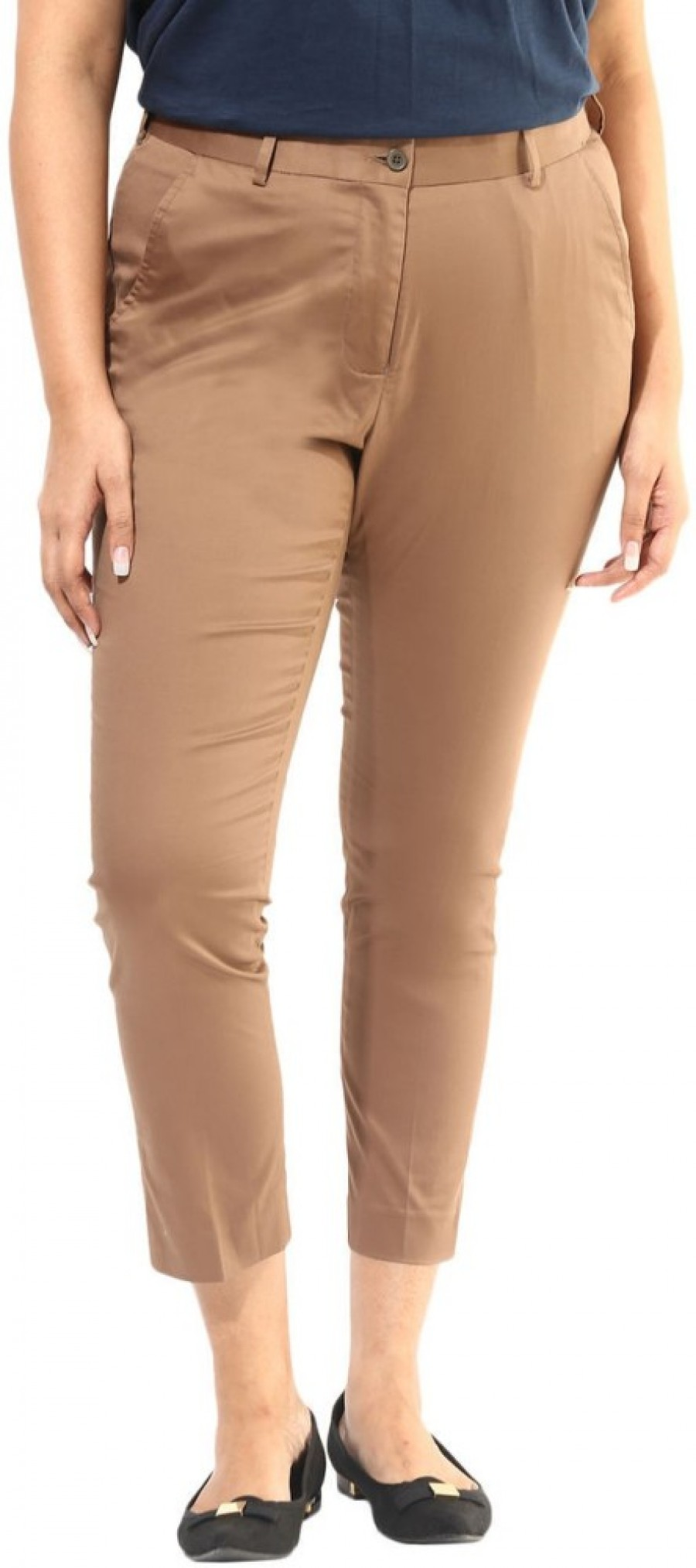 Buy Alto Moda by Pantaloons Regular Fit Women Brown Trousers Online