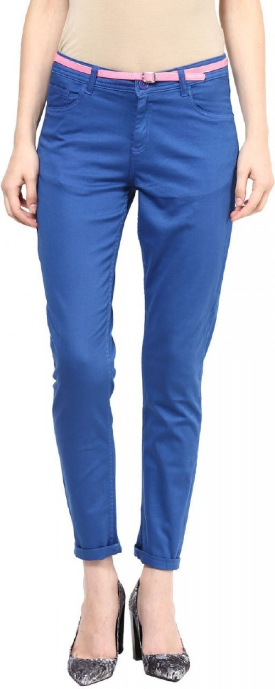 Buy Candies By Pantaloons Slim Fit Women Blue Trousers Online