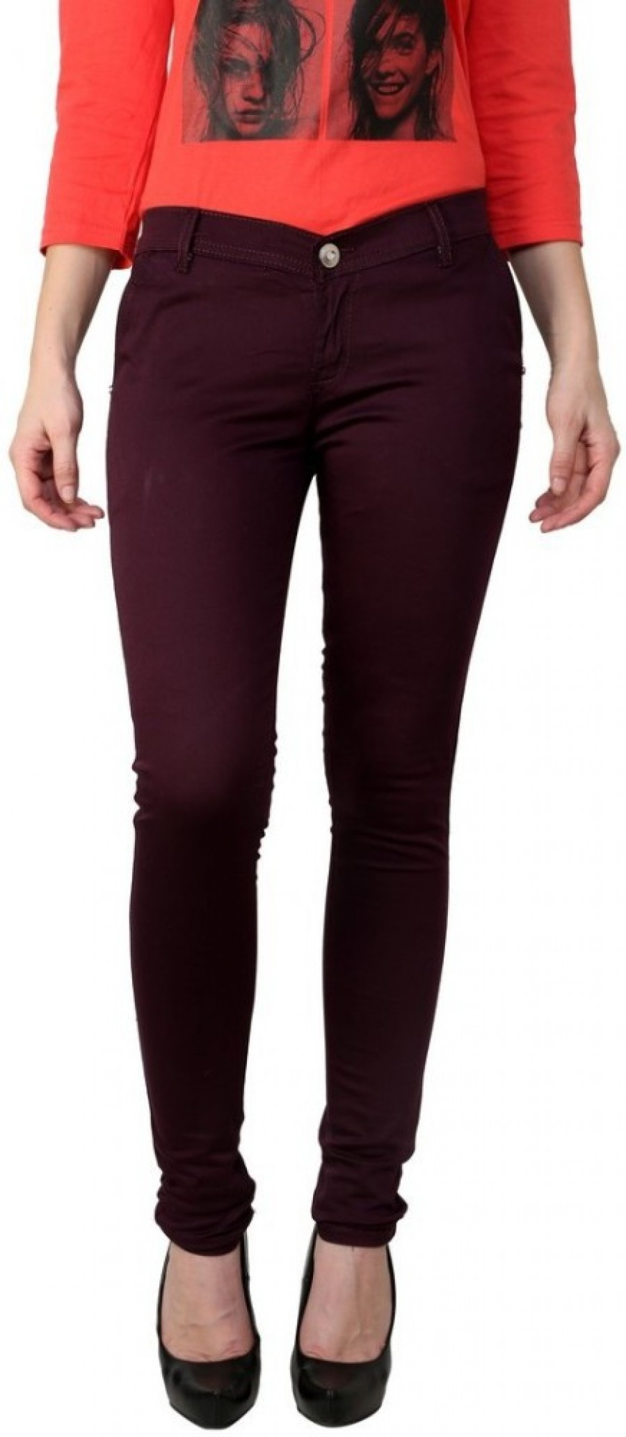 Buy American Cult Slim Fit Women Purple Trousers Online