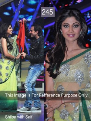 Buy Shilpa Shetty Lemon Color Attractive Saree Online