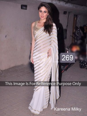 Buy Karina White Color Saree Online