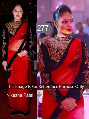 Buy Nikesha Patel Red Color Saree Online
