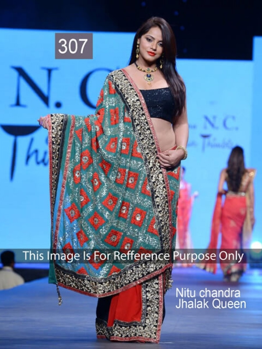Buy Nitu Chandra Red Color Saree Online