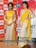 Jacquline Yellow and Off White Color Saree