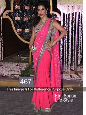 Buy Sophie Chodhry Hot Pink Color Designer Saree Online