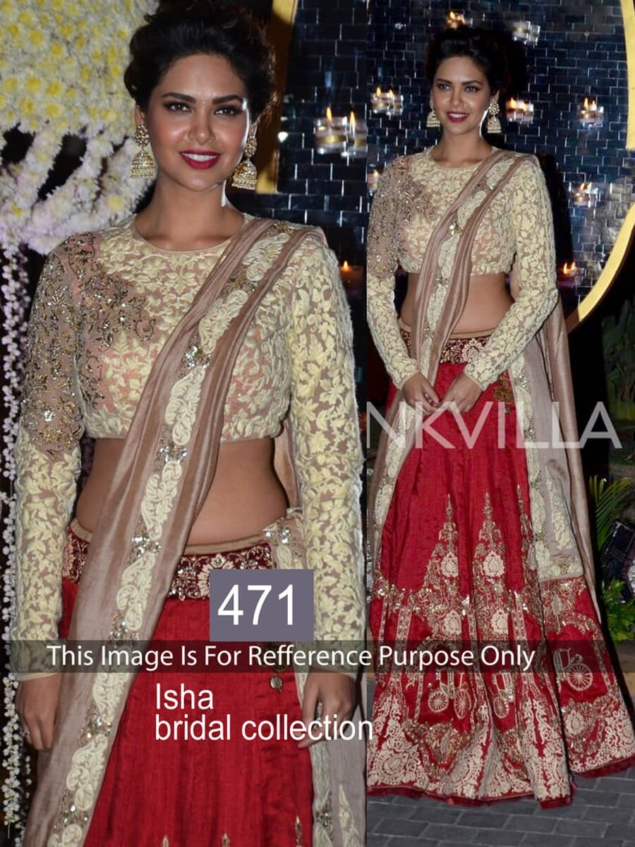 Buy Isha Red and White Bridal Lehenga Online