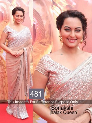 Buy Sonakshi Sinha Peach Color Saree Online
