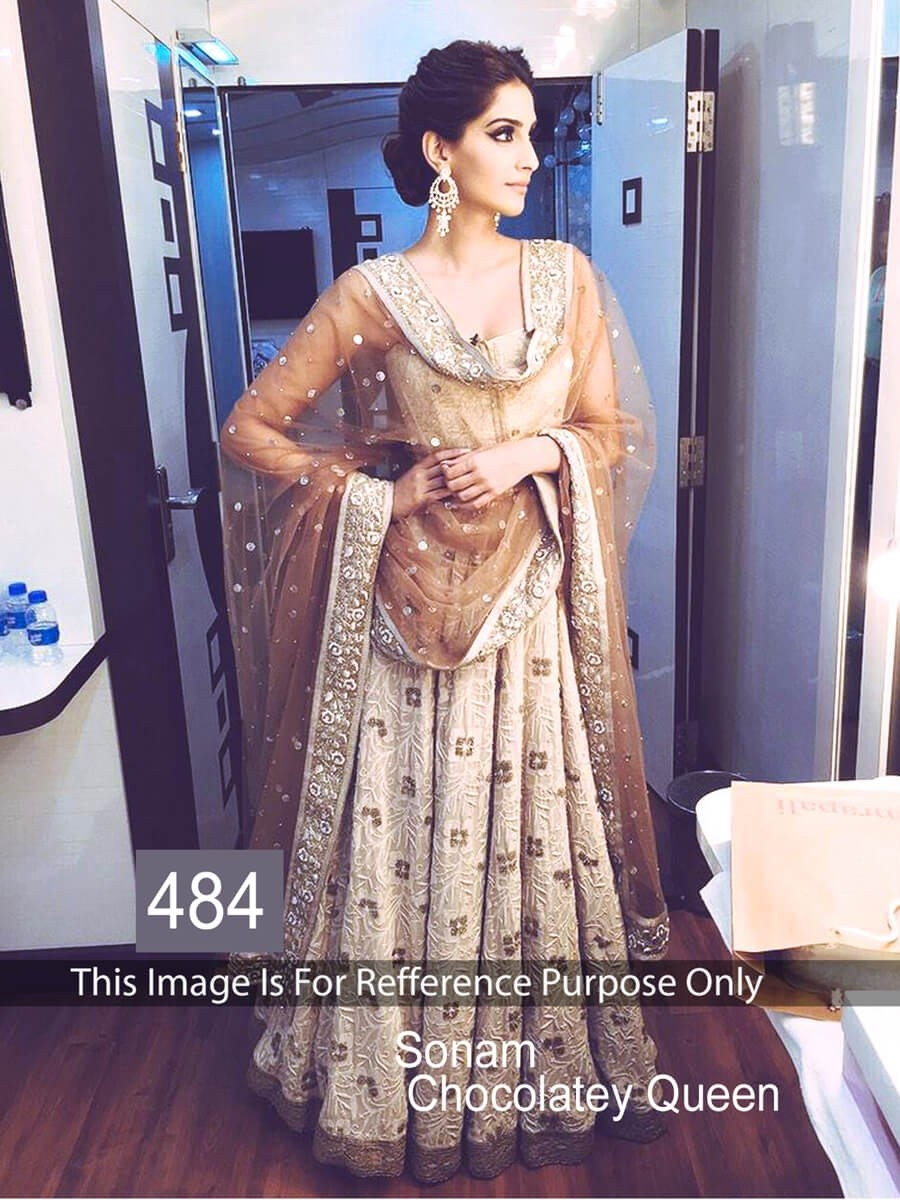 Buy Sonam Kapoor Brown Color Lehenga Choli Online