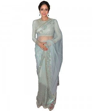 Buy Sri Devi Green Color Saree Online