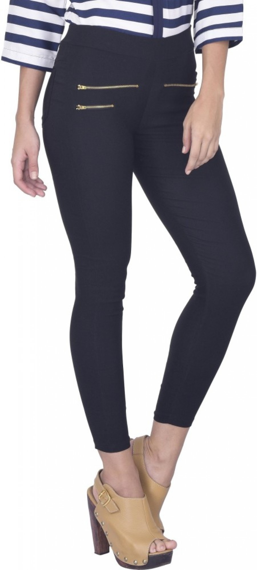 Buy Thinline Women Black Jeggings Online