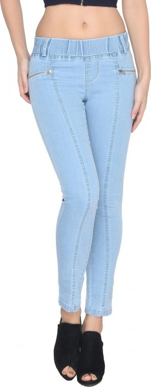 Buy Lesley Women Light Blue Jeggings Online