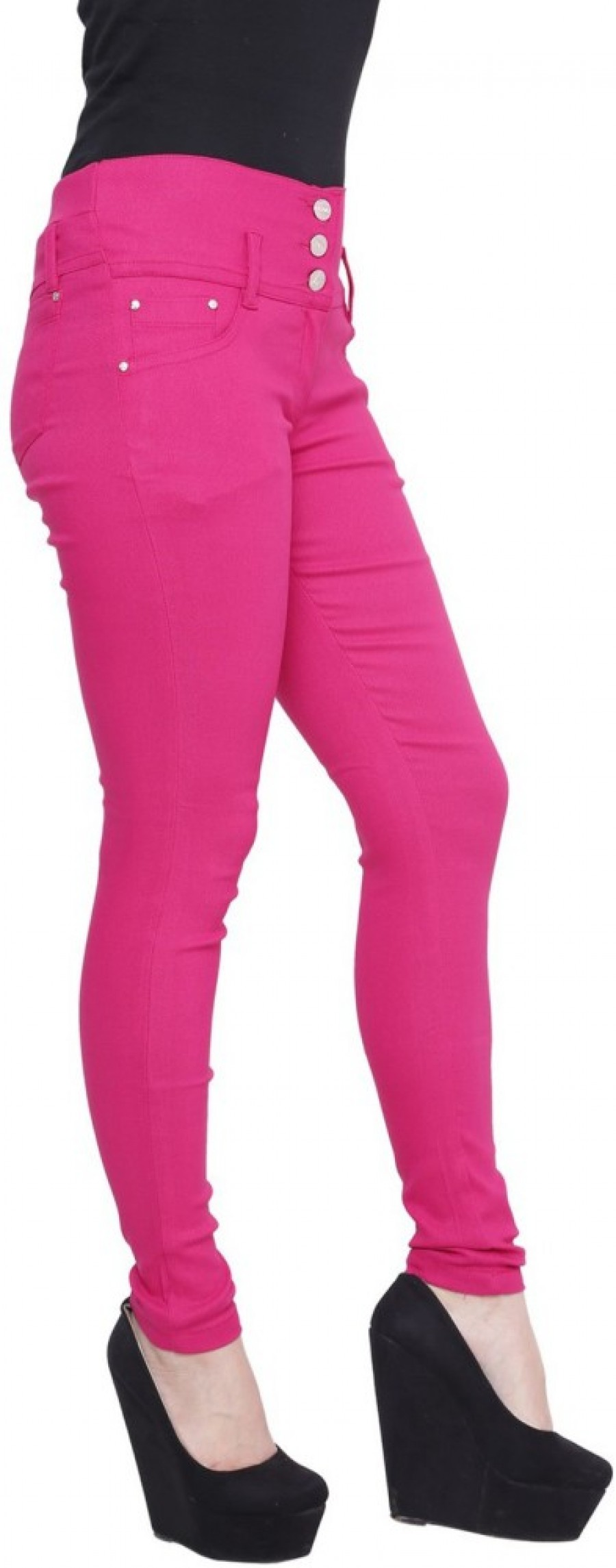 Buy Rampwalk Women Pink Jeggings Online