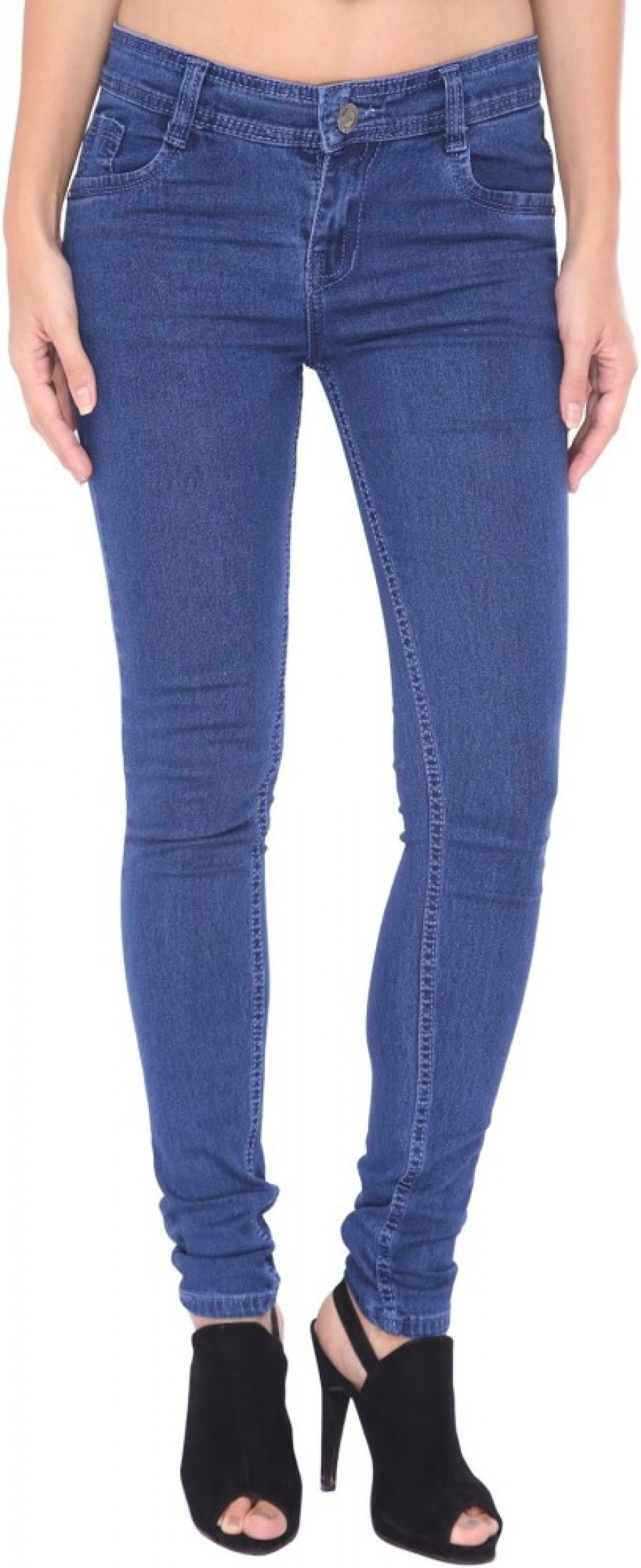 Buy Zadine Slim Fit Women Blue Jeans Online