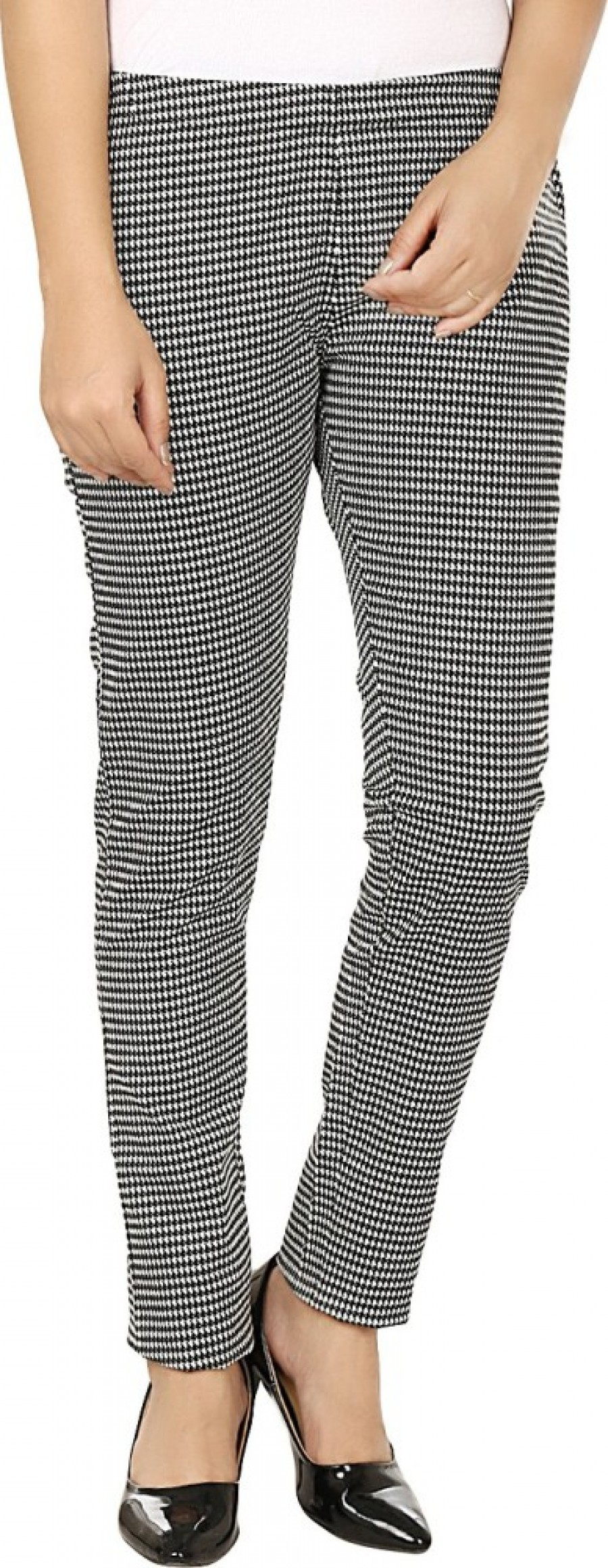 Buy Fashion Cult Women Black, White Jeggings Online
