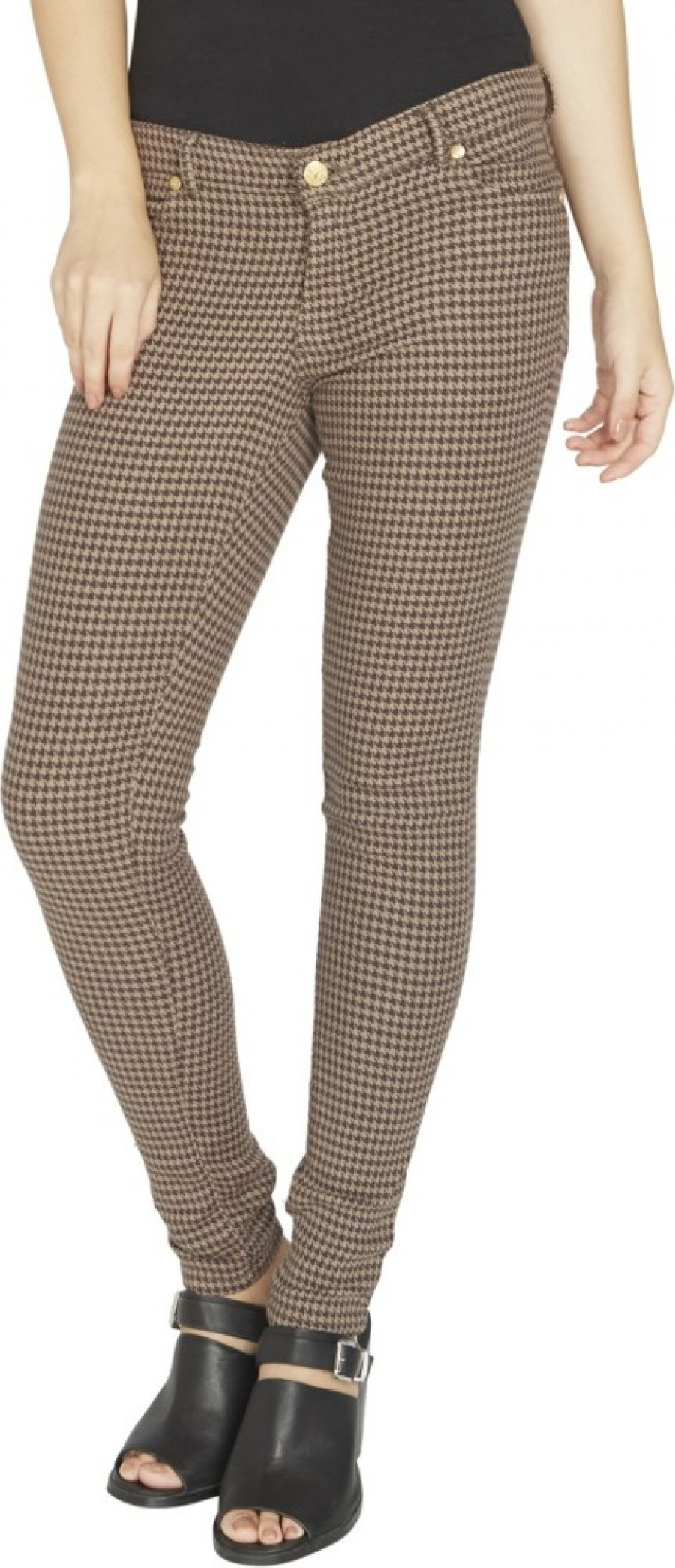 Buy Globus Regular Fit Women Brown Jeans Online