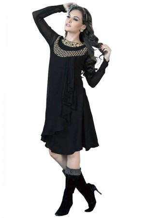 Buy Beautiful fancy Black kurti Online