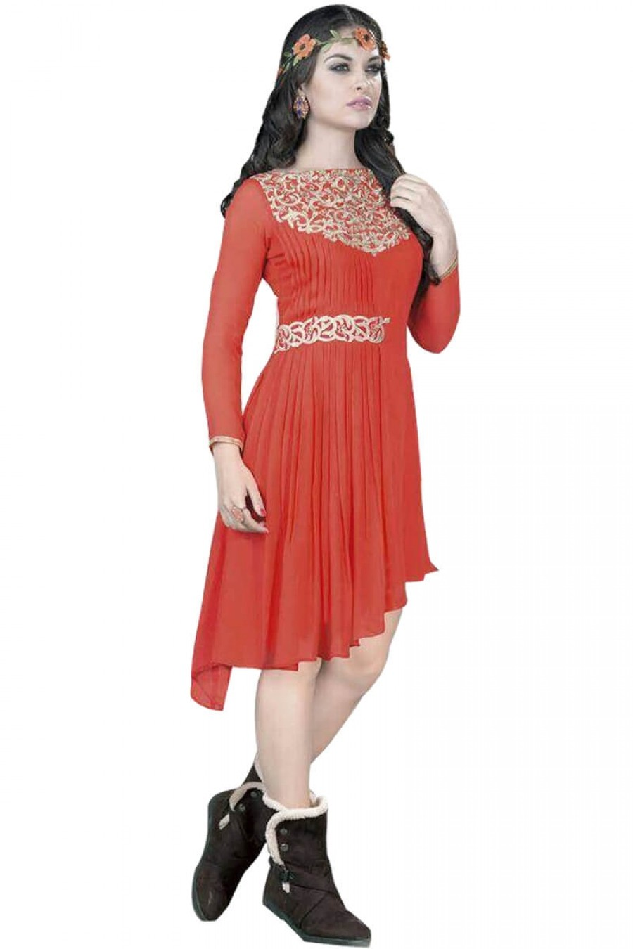 Buy Amazing  fancy orange kurti Online