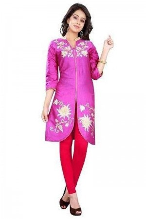 Buy Beautiful pink kurti Online