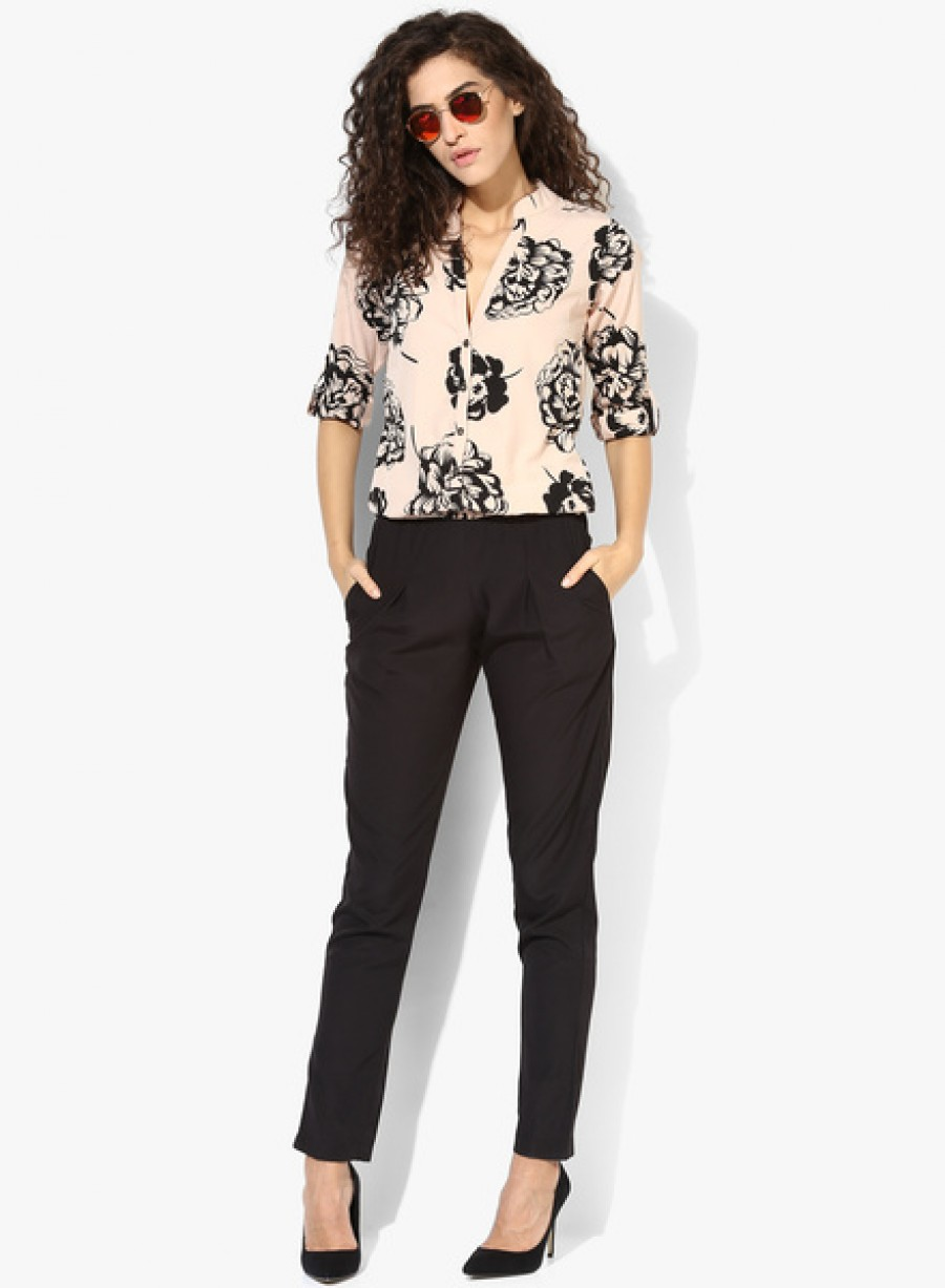 Buy MIAMINXBlack Printed Jumpsuit Online