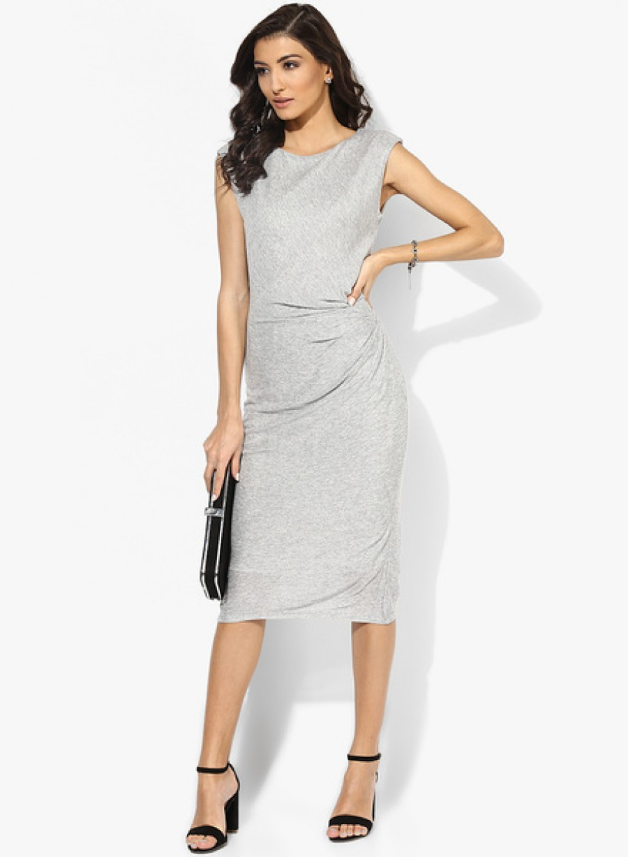 Buy Dorothy PerkinsSilver Shimmer Knot Dress Online