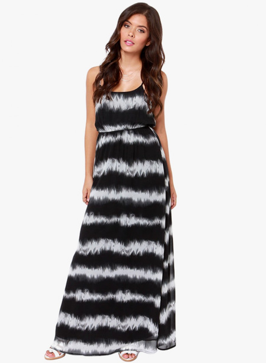 Buy JC CollectionBlack Coloured Printed Maxi Dress Online