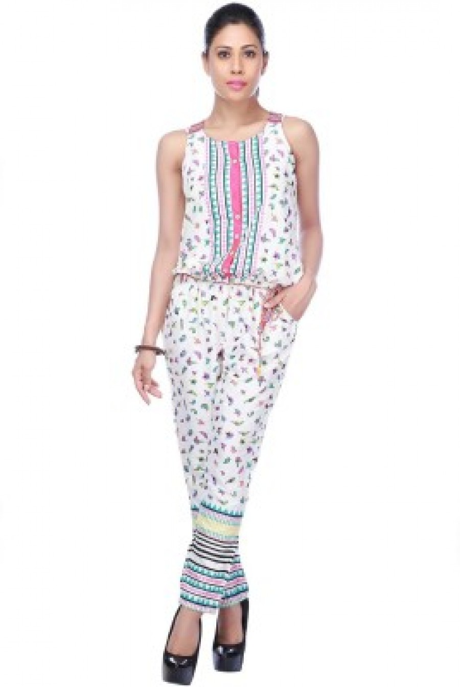 Buy Haute Curry by Shoppers Stop Printed Womens Jumpsuit Online