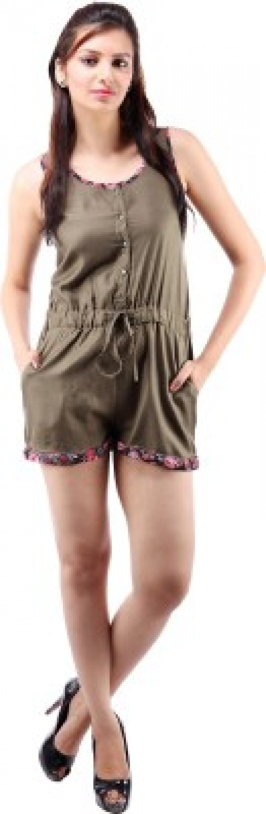 Buy Goodwill Impex Solid Womens Jumpsuit Online