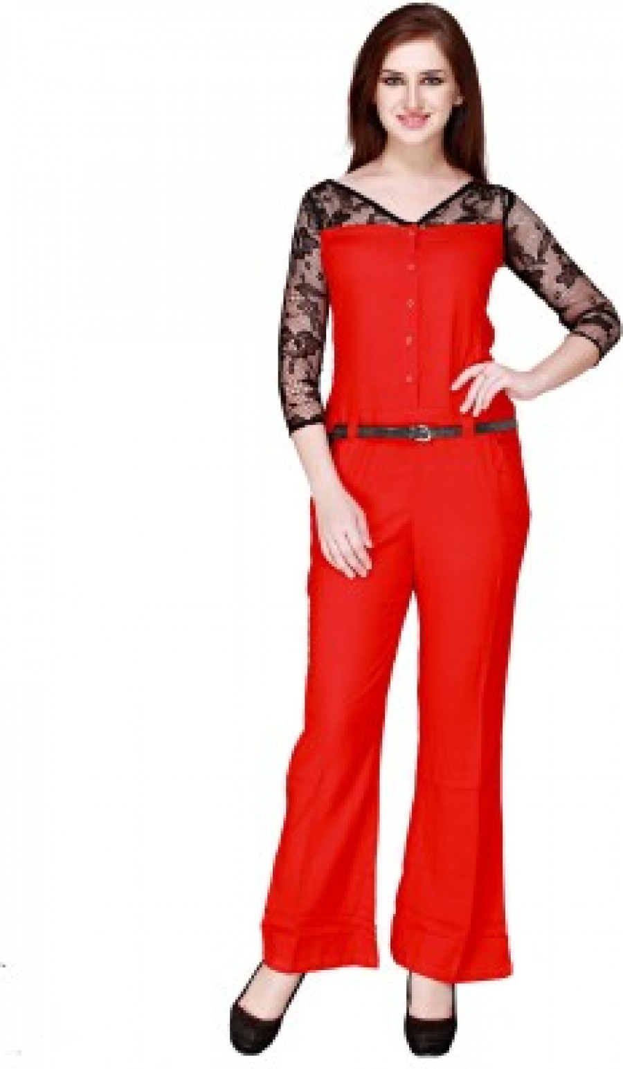 Buy Cottinfab Solid Womens Jumpsuit Online