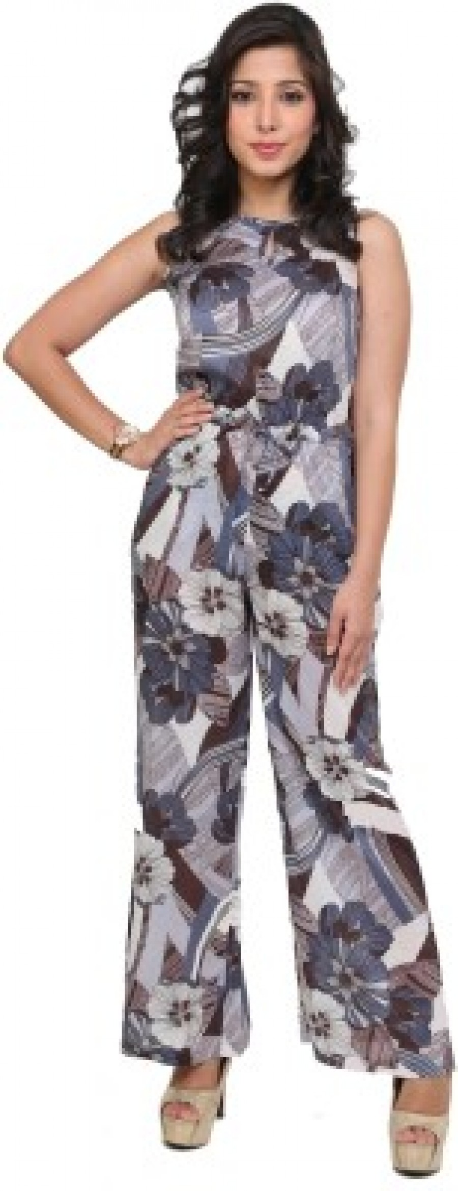 Buy Cottinfab Printed Womens Jumpsuit Online
