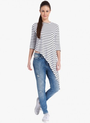 Buy OnlyWhite Striped T Shirt Online