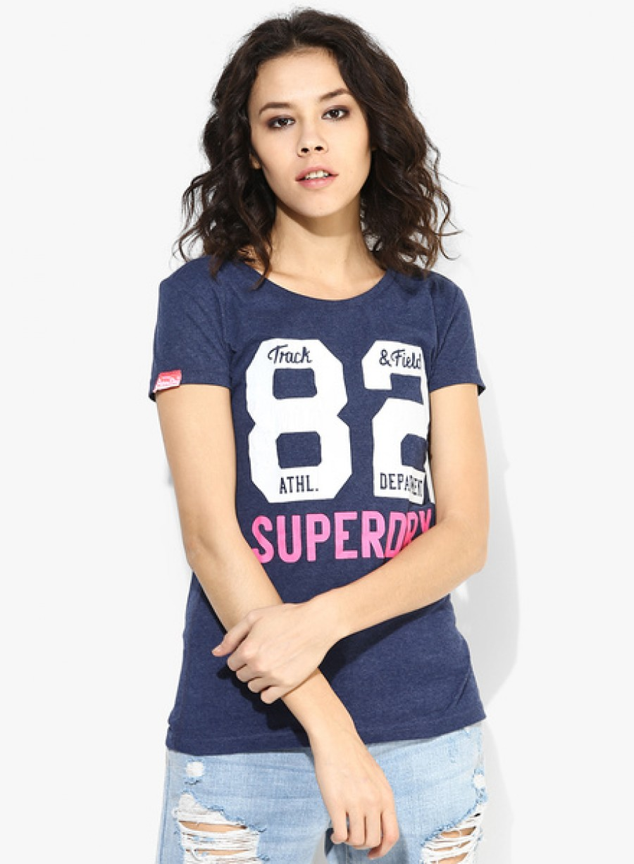 Buy SuperdryNavy Blue Graphic T Shirt Online