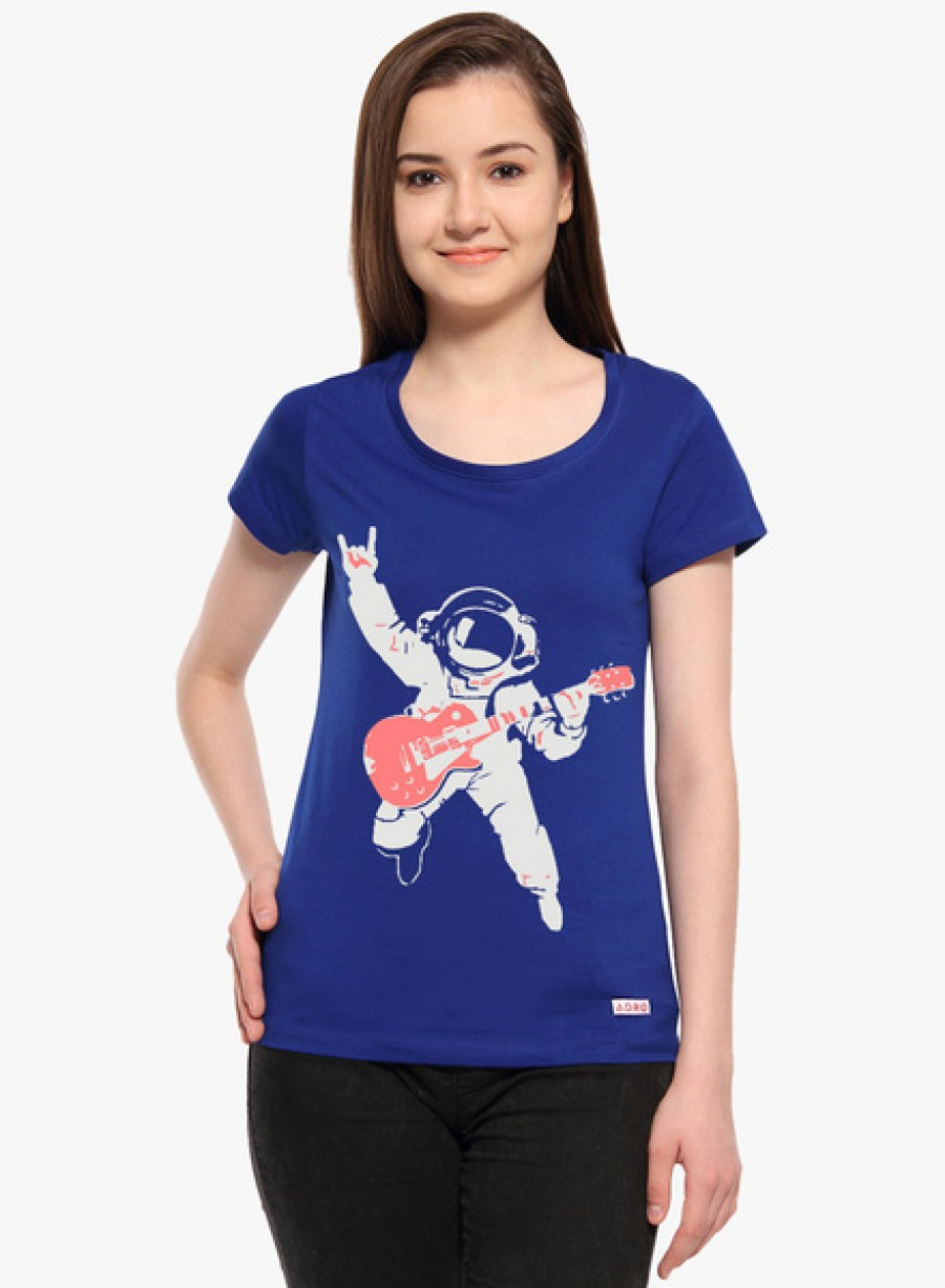 Buy AdroBlue Printed T Shirt Online