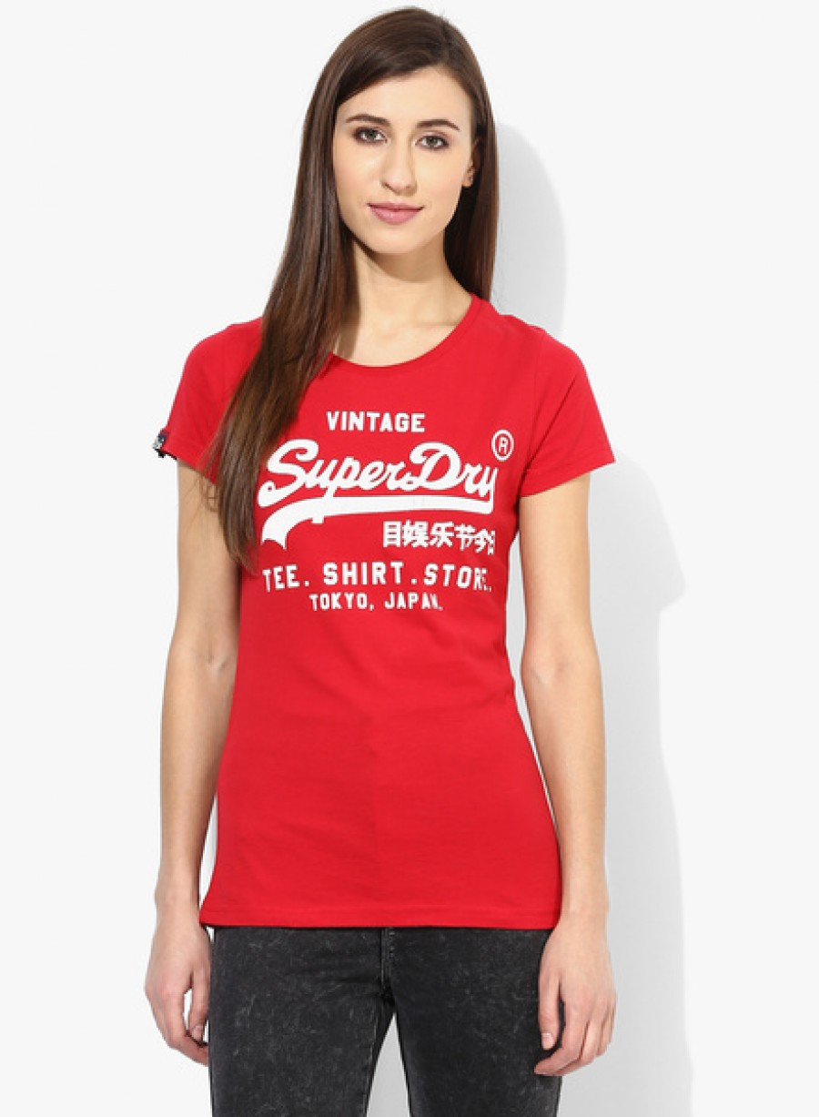 Buy SuperdryRed Printed T Shirt Online