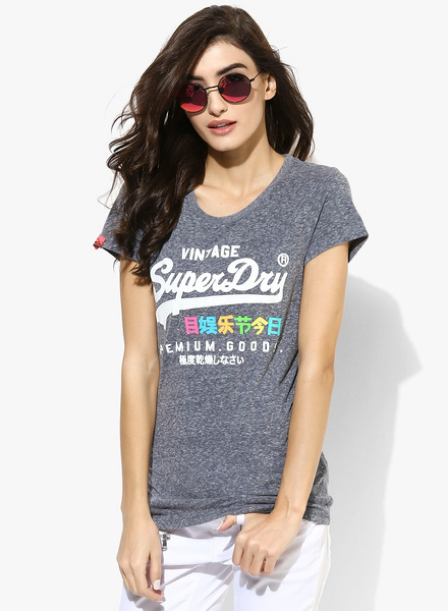 Buy SuperdryBlue Graphic T Shirt Online